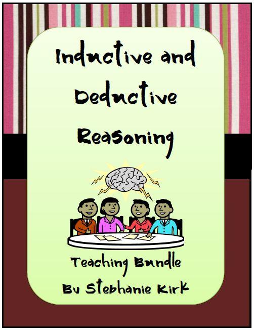 deductive reasoning – Inductive and Deductive Reasoning Worksheet