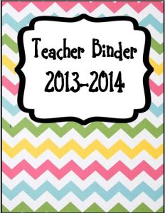 Teacher binder 1